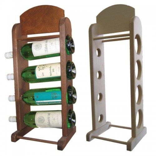 Dřevěný bukový regál na víno 7720