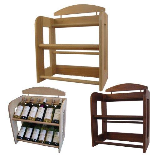 Dřevěný bukový regál na víno 7728
