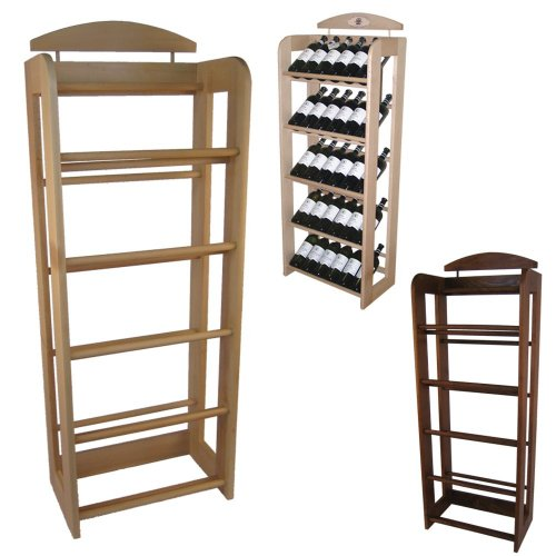 Dřevěný bukový regál na víno 7730