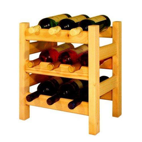 Dřevěný regál na víno 8033A