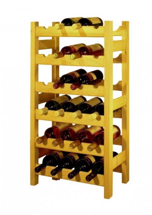 Dřevěný regál na víno 8033B