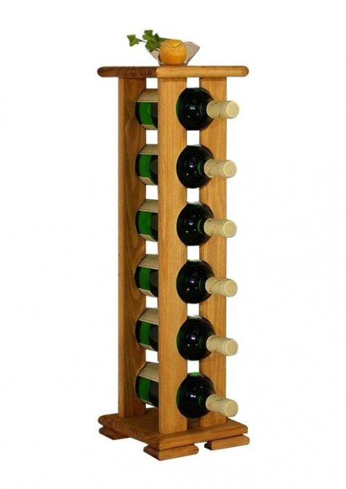 Dřevěný stojan na víno 8068A