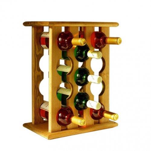 Dřevěný stojan na víno 8068B