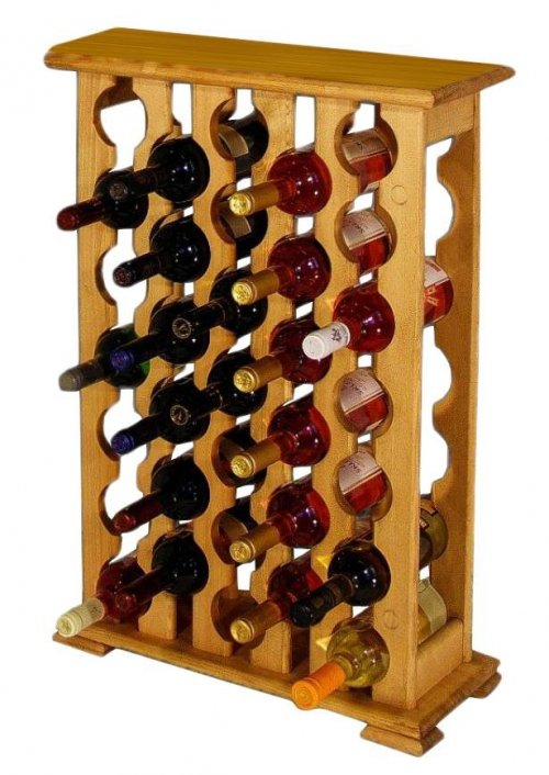 Dřevěný stojan na víno 8068C