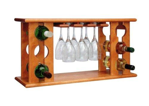 Dřevěný minibar na víno 8068D