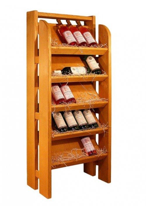 Dřevěný prezentační stojan na víno 8069