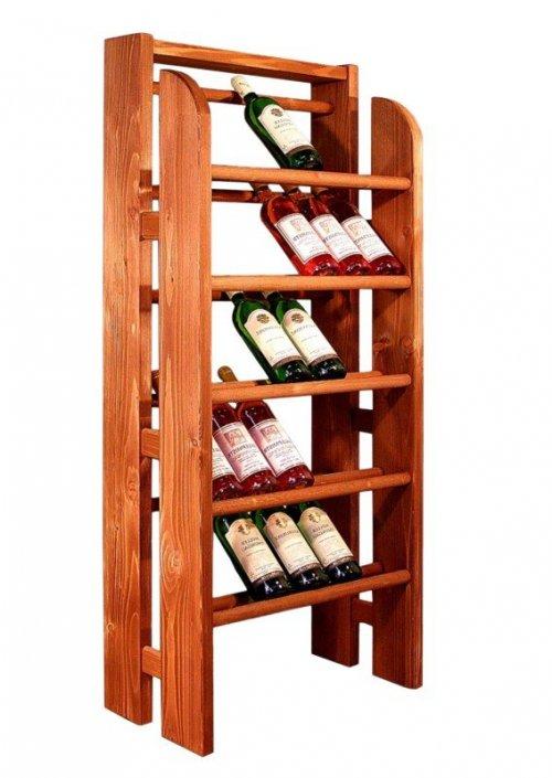Dřevěný prezentační stojan na víno 8070