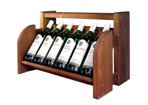Dřevěný stojan na víno 8071