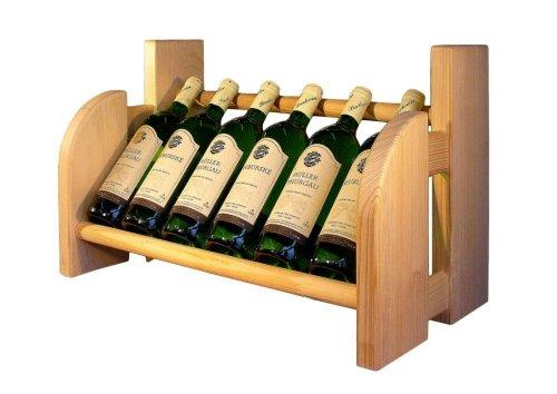 Dřevěný stojan na víno 8072
