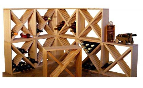 Dřevěný regál na víno 8073