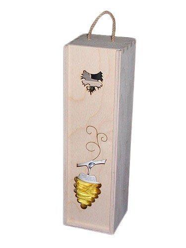 Dřevěná krabička na víno 93400