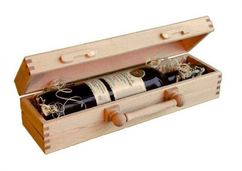 Dřevěný kufr na víno 8020