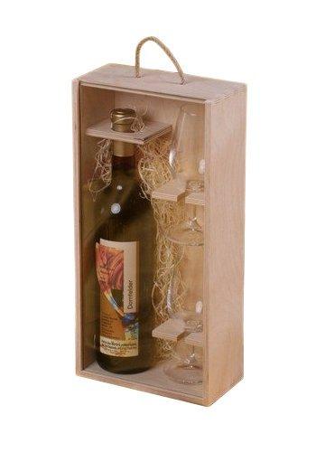 Dřevěná dárková krabička na víno 911601