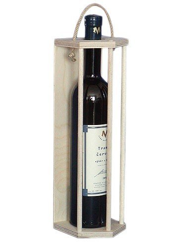 Dřevěný nosič na víno 910060