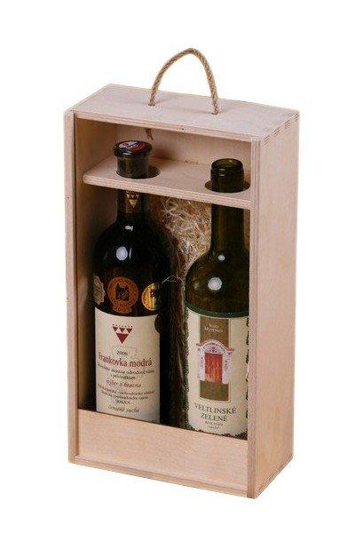 Dřevěná krabička na víno 95204