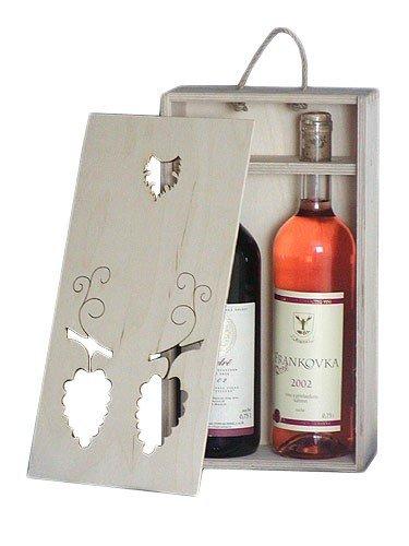 Dřevěná krabička na víno 95400