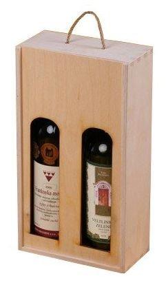 Dřevěná krabička na víno 95600