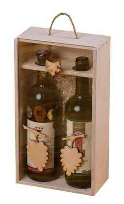 Dřevěná krabička na víno 95900