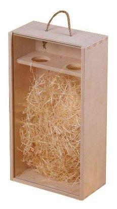 Dřevěná krabička na víno 95700