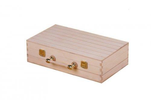 Dřevěný kufr na víno 92401