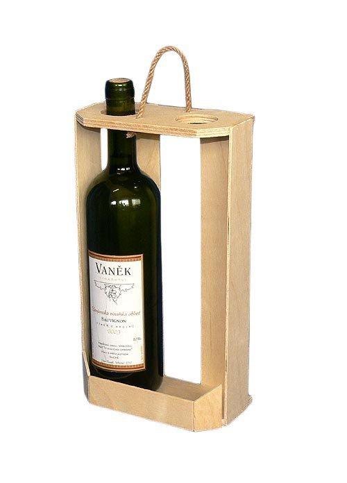 Dřevěný nosič na víno 910201