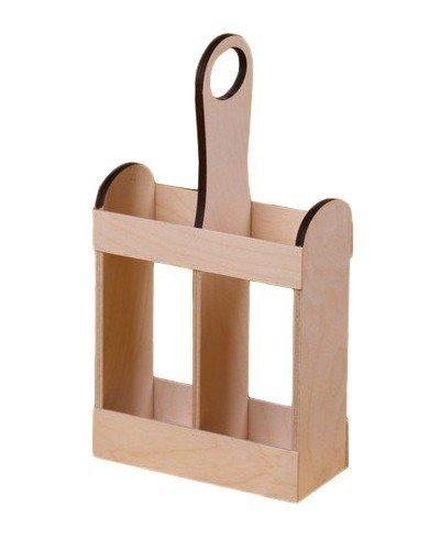 Dřevěný nosič na víno 910211