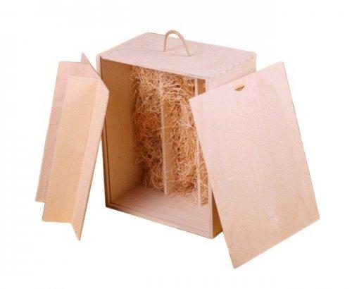 Dřevěná krabička na víno 914100