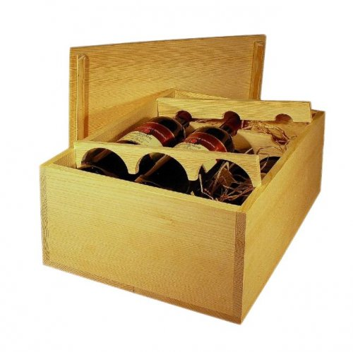 Dřevěná bedna na víno 8079