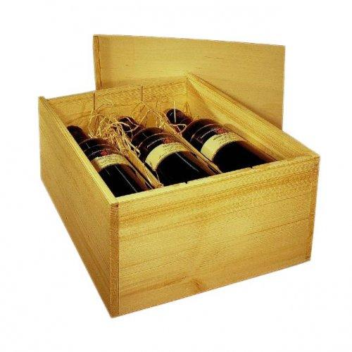 Dřevěná bedna na víno 8080