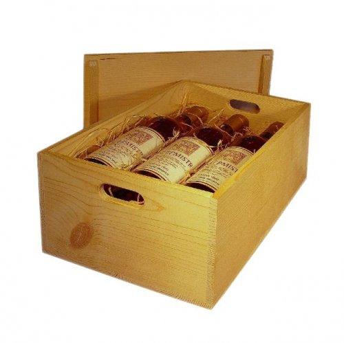 Dřevěná bedna na víno 8081