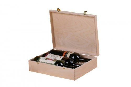 Dřevěná krabička na víno 912300