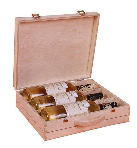 Dřevěný kufr na víno 92200