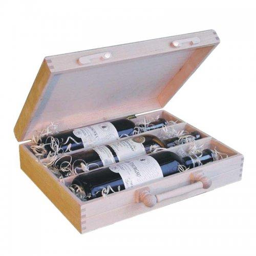 Dřevěný kufr na víno 8020-3