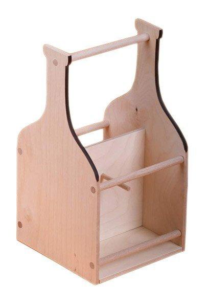 Dřevěný nosič na víno 910401