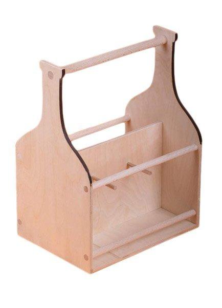 Dřevěný nosič na víno 910601