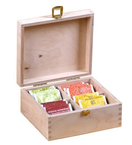Dřevěná krabička na čaj 913134