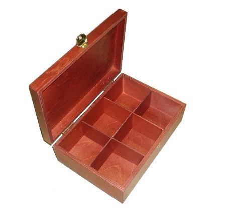Dřevěná krabička na čaj 913105