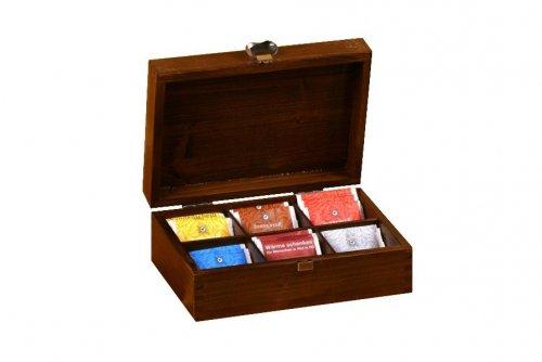 Dřevěná krabička na čaj 913116