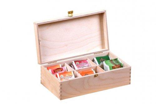Dřevěná krabička na čaj 913136