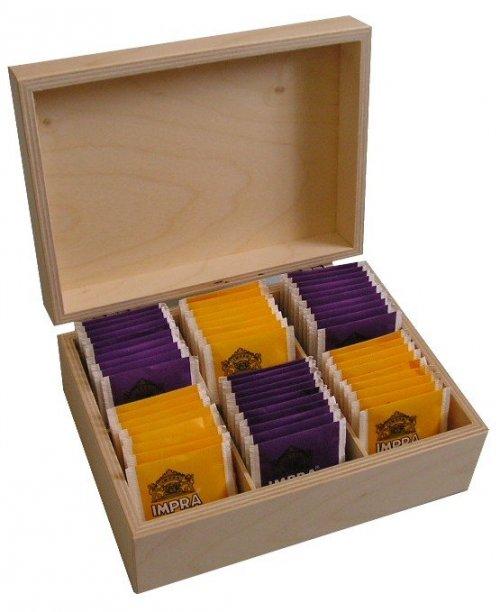 Dřevěná krabička na čaj 502