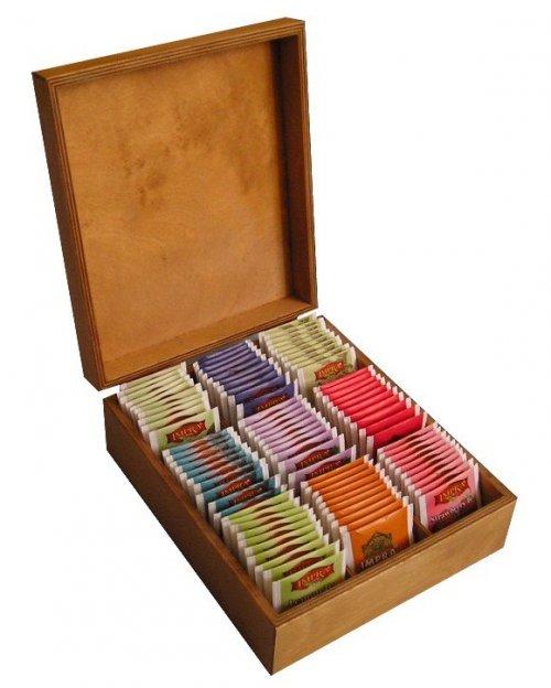 Dřevěná krabička na čaj 506