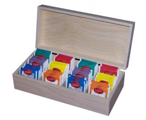 Dřevěná krabička na čaj 508